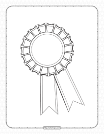 Free Printable Rosette Pdf Outline Sheet