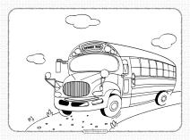 Free Printable School Bus Pdf Coloring Book
