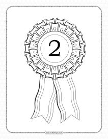 Free Printable Second Place Rosette Ribbon Pdf Sheet