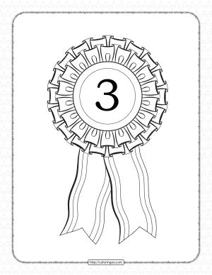 Free Printable Third Place Rosette Ribbon Pdf Sheet