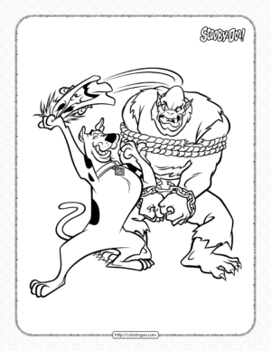 Free Scooby-Doo Pdf Coloring Pages