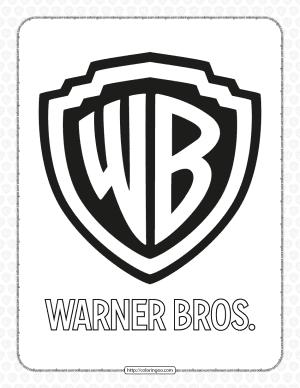 Warner Bros Pdf White and Black Logo Outline