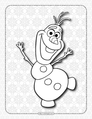 Frozen Olaf Coloring Book for Kids