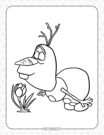 Frozen Olaf Coloring Page for Kids