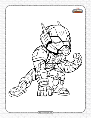 Marvel Ant-Man Pdf Coloring Pages