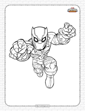 Marvel Black Panther Pdf Coloring Pages