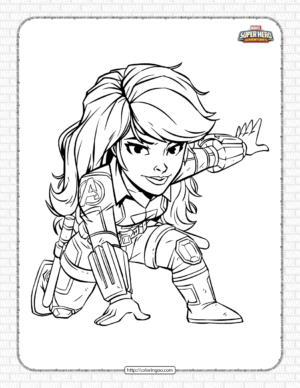 Marvel Black Widow Pdf Coloring Pages