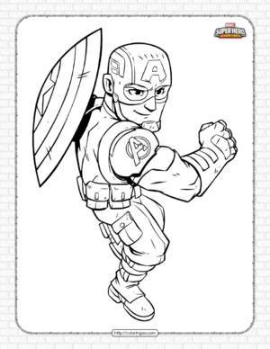 Marvel Captain America Pdf Coloring Pages