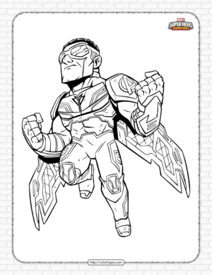 Marvel Falcon Pdf Coloring Pages