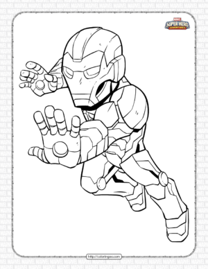 Marvel Iron Man Pdf Coloring Pages