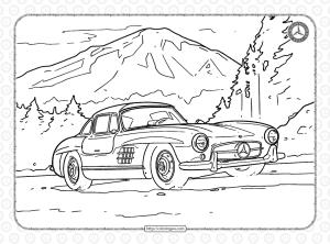 Mercedes-Benz Pdf Coloring Book