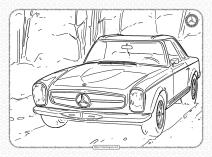 Mercedes-Benz Pdf Coloring Pages