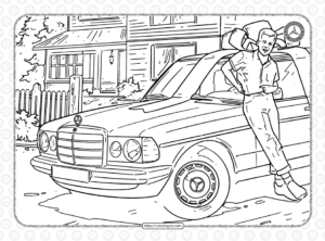 Mercedes-Benz Pdf Coloring Pages for Kids