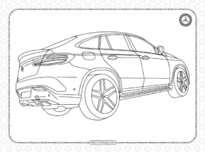 Mercedes Cars Coloring Pages for Kids
