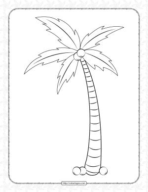 Palm Tree Pdf Coloring Page