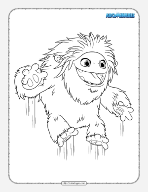 Printable Abominable Pdf Coloring Pages
