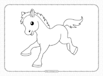 Printable Baby Horse Coloring Page