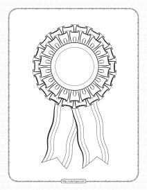 Printable Blank Rosette Outline Pdf Worksheet