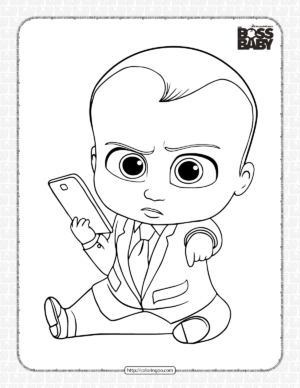Printable Boss Baby Coloring Pages for Kids