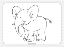 Printable Cartoon Elephant Coloring Pages
