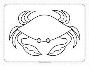 Printable Crab Coloring Sheet for Kids