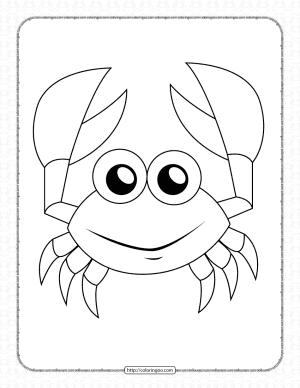 Printable Cute Crab Coloring Book for Kids