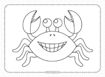 Printable Cute Crab Coloring Pages for Kids