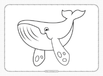 Printable Cute Whale Pdf Coloring Pages
