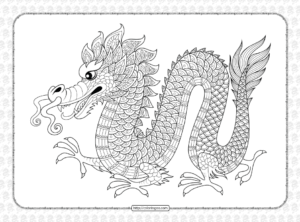 Printable Dragon Coloring Book for Kids