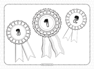 Printable First Second Third Place Rosettes Ribbons