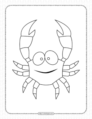 Printable Funny Crab Pdf Coloring Pages