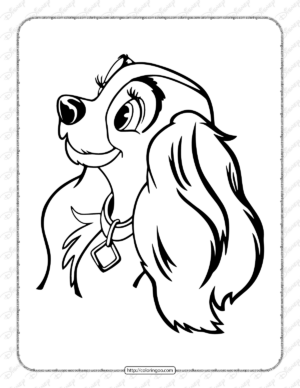 Printable Lady and the Tramp Pdf Coloring Pages