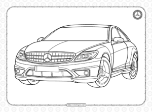 Printable Mercedes Cars Coloring Pages
