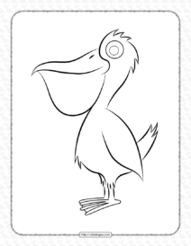 Printable Pelican Pdf Coloring Pages