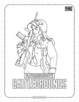 Printable Pubg Battlegrounds Coloring Page
