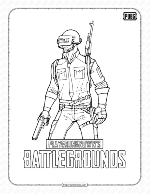 Printable Pubg Coloring Pages for Kids