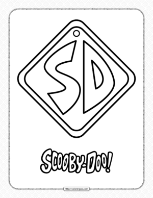 Printable Scooby-Doo Dog Tag Coloring Page