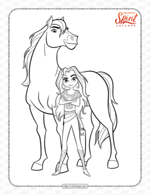 Printable Spirit Untamed Lucky Coloring Page