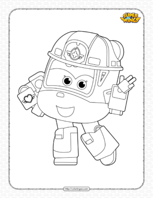 Printable Super Wings Dizzy Coloring Page