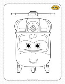 Printable Super Wings Dizzy Pdf Coloring Sheet