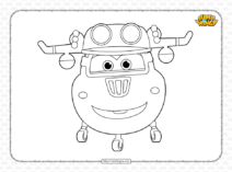 Printable Super Wings Donnie Coloring Page
