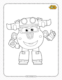 Printable Super Wings Donnie Pdf Coloring Sheet