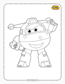 Printable Super Wings Jett Coloring Page