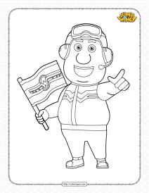 Printable Super Wings Jimbo Pdf Coloring Sheet