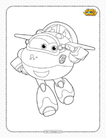 Printable Super Wings Mira Coloring Page