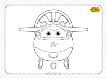 Printable Super Wings Mira Pdf Coloring Sheet