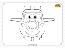 Printable Super Wings Paul Pdf Coloring Book