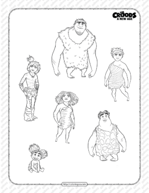Printable The Croods A New Age Coloring Page