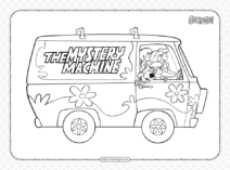 Printable The Mystery Machine Pdf Coloring Page
