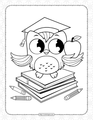 Printable Wise Owl Coloring Page for Kids